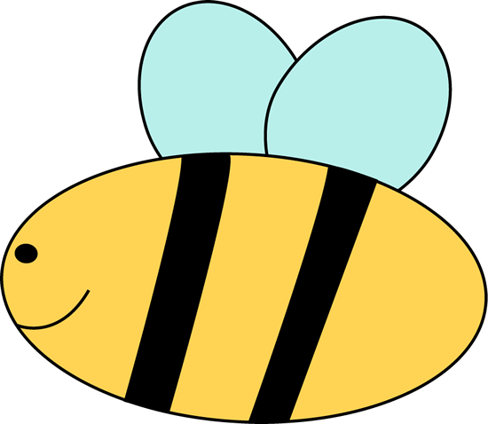 Little Bee Clip Art Image - cute little yellow bee with blue wings ...