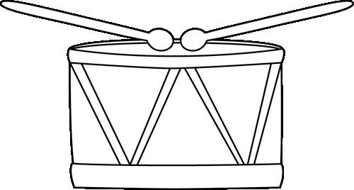 Black And White Drum Clip Art