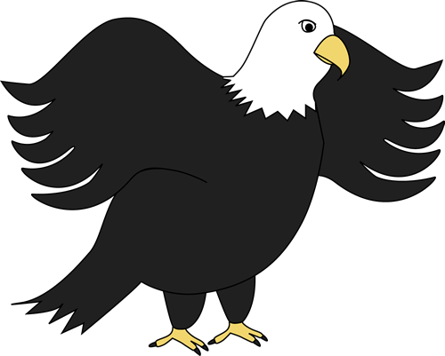 Eagle Clip Art Image - eagle with its wings open. Great for the long E ...