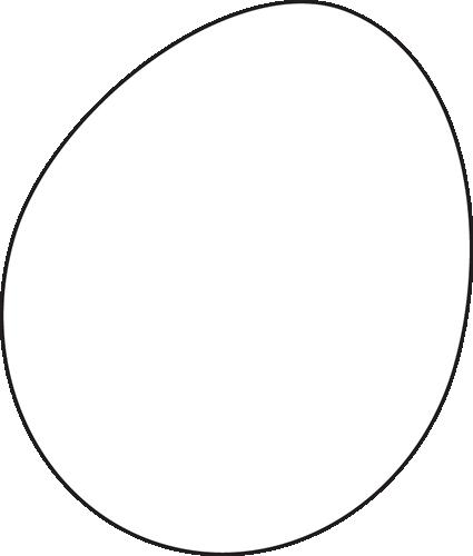 Egg Clip Art Black And White