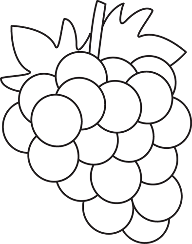 Black and White Grapes Clip Art - Black and White Grapes Image