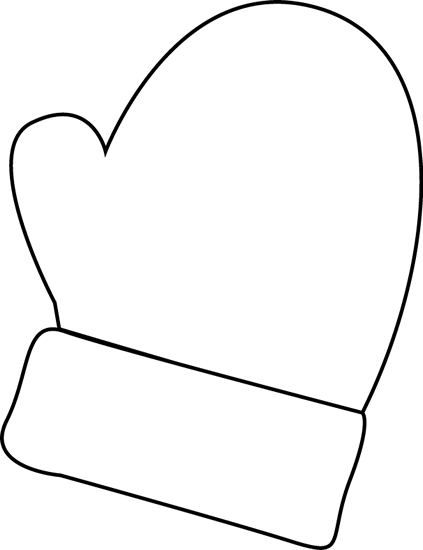 Black and White Mitten