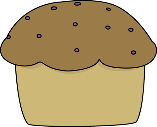 Muffin Clip Art Image - large brown muffin.