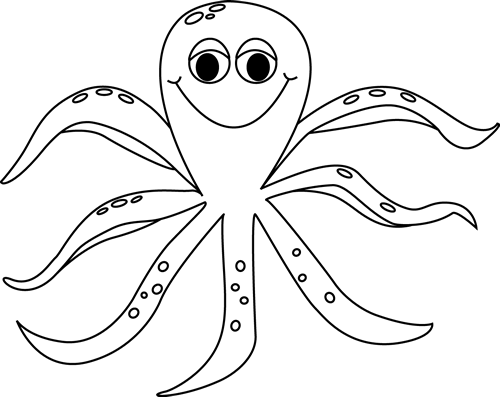 Black and White Octopus