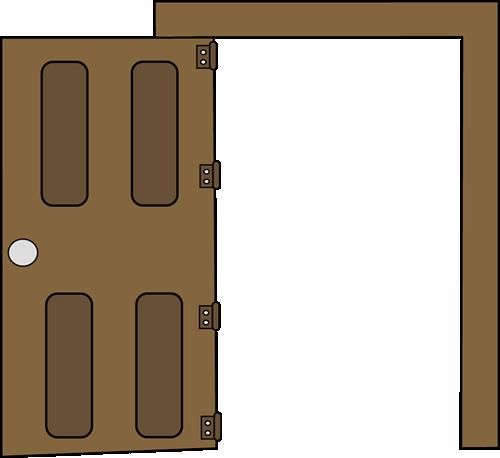 open and closed door clipart. Open Clip Art Image - Brown Door That Is Open. And Closed Clipart