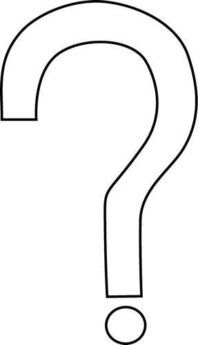 Question Mark Clip Art Black And White Png Black and White Questi...