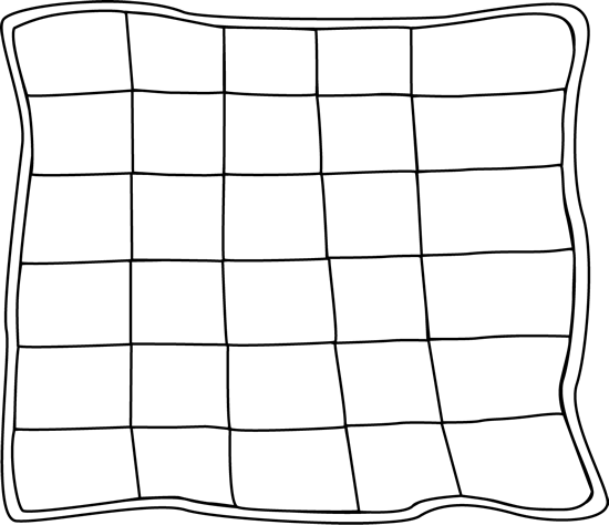 Black and White Quilt Clip Art - Black and White Quilt Image