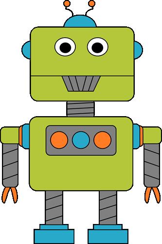 Robot for Letter R Clip Art Image - green, blue, and orange robot ...