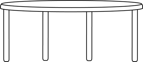 table clipart black and white. black and white table clipart