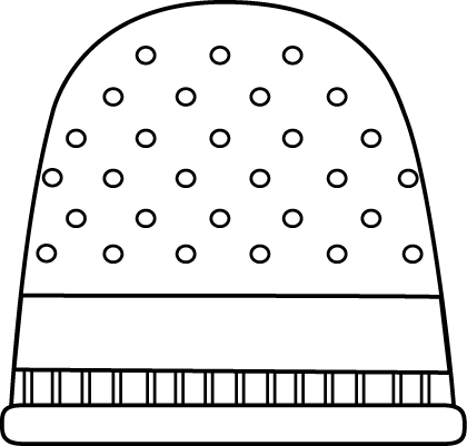 Black and White Thimble