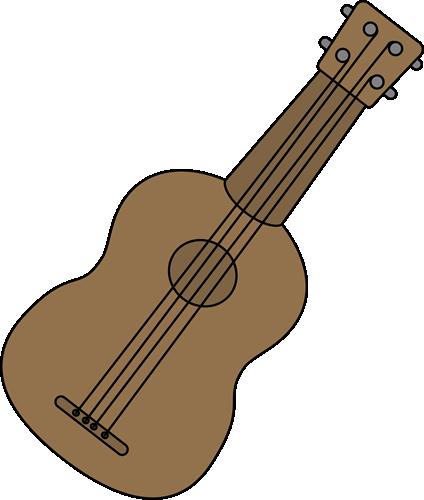 Ukulele Clip Art Image - brown ukulele.