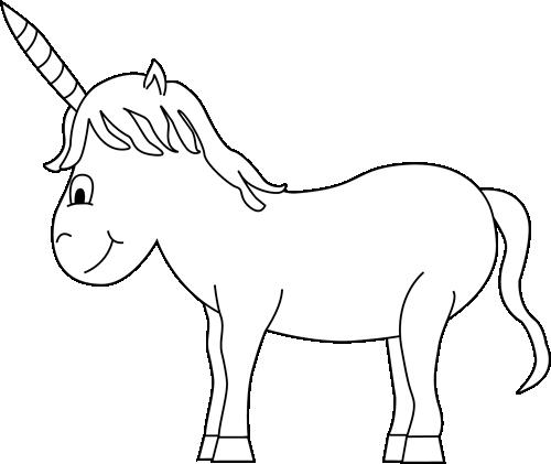 unicorn clipart black and white - photo #8