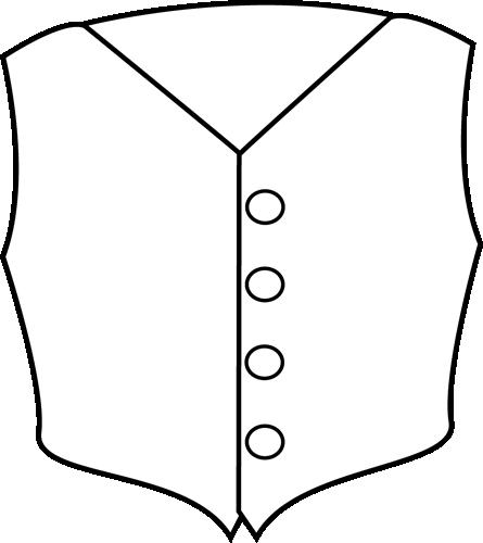 black and white vest clip art black and white vest image rh mycutegraphics com Van Clip Art Black and White Clip Art Black and White Laundry
