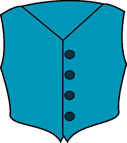 Kids Jacket Clip Art Vest clip art image - blue