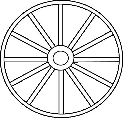 Black and White Wheel Clip Art - Black and White Wheel Image