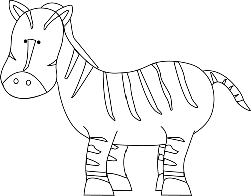 Black and White Zebra Clip Art - Black and White Zebra Image