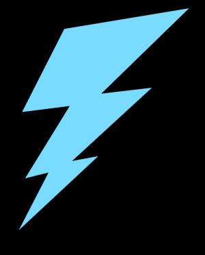 Blue Lightning Bolt