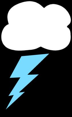 Lightning Bolt and Cloud