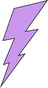 Purple Lightning Bolt