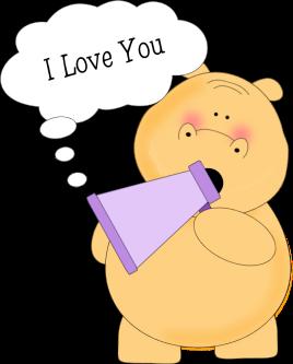 I Love You Hippo