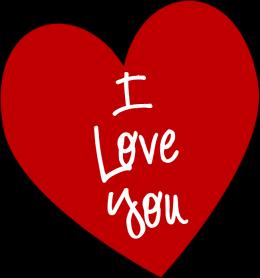 i love you heart clip art i love you heart image