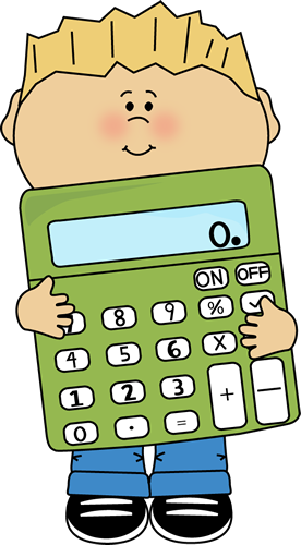 Boy Holding a Giant Calculator
