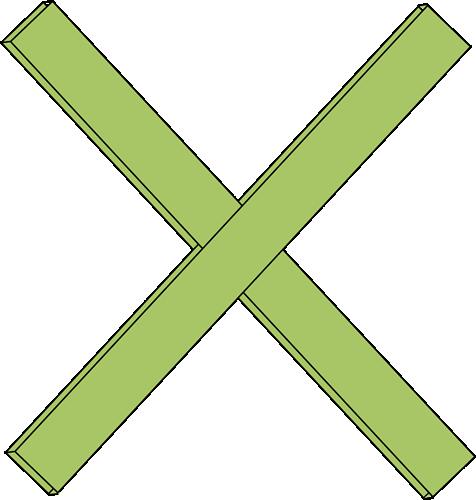 Green Math Multiplication Sign