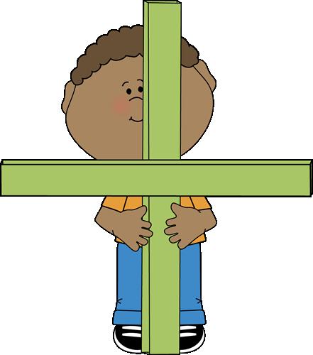 Kid Standing Behind Math Addition Symbol Clip Art