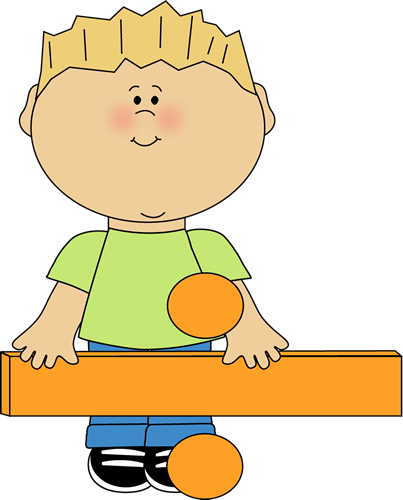 Kid Standing Behind Math Division Sign Clip Art