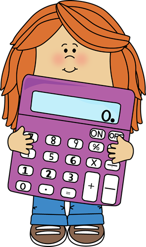 Little Girl with Big Purple Calculator