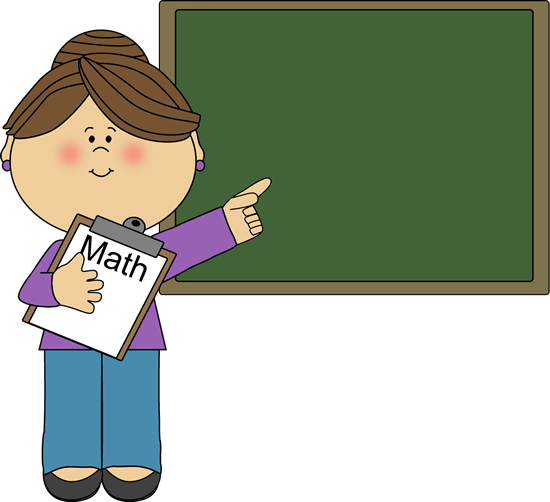 Woman Math Teacher Clip Art - Woman Math Teacher Vector Image