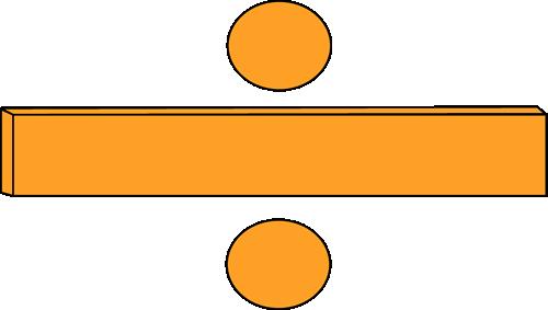 Orange Math Division Symbol Clip Art Orange Math Division Symbol