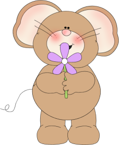 Mouse with Flower