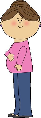 Brunette Pregnant Mom