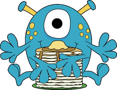 Monster Eating Pancakes