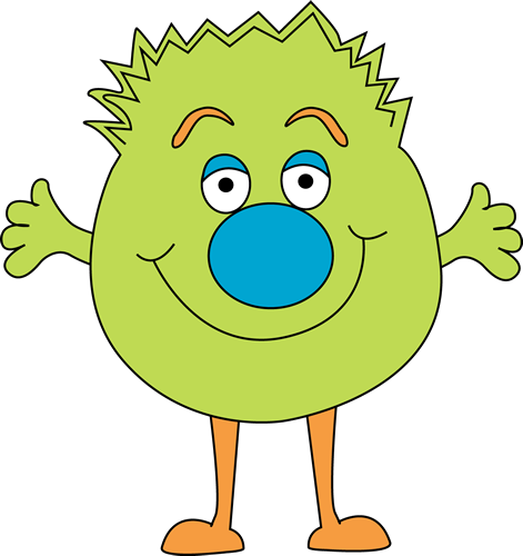Funny Green Monster