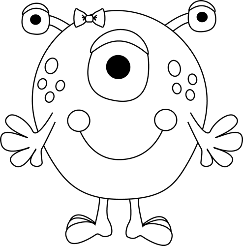 monster outline coloring pages - photo#2