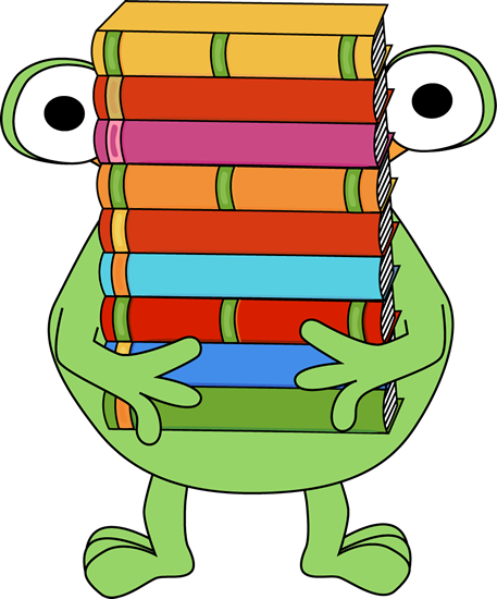 Monster Carrying a Stack of Books