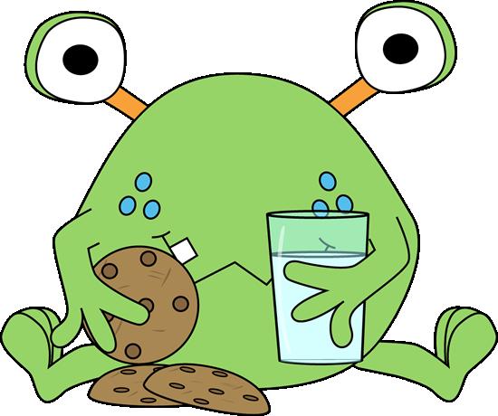 Monster Eating Cookies