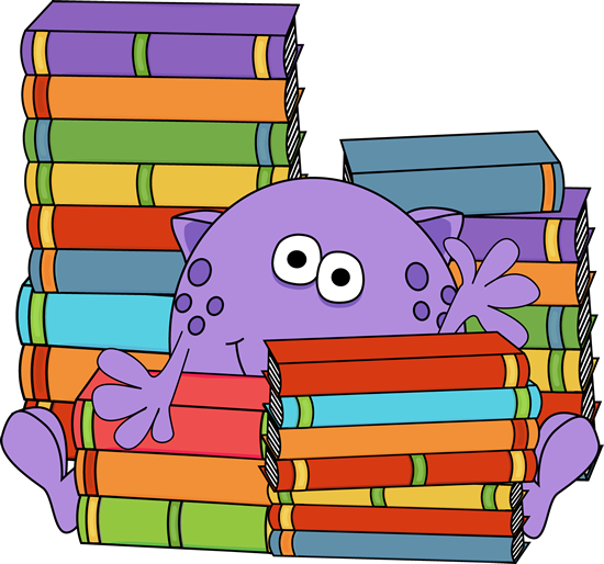 Monster Surrounded by Books