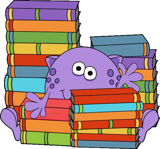 monster surrounded by books clip art monster surrounded Spring Clip Art Borders Spring Is in the Air Clip Art