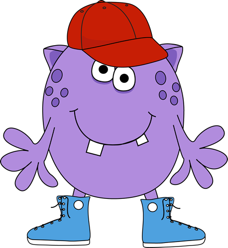 Monster Wearing Sneakers and Baseball Cap