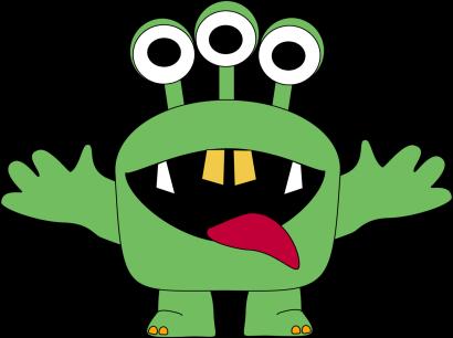 Three Eyed Monster Clip Art Three Eyed Monster Image