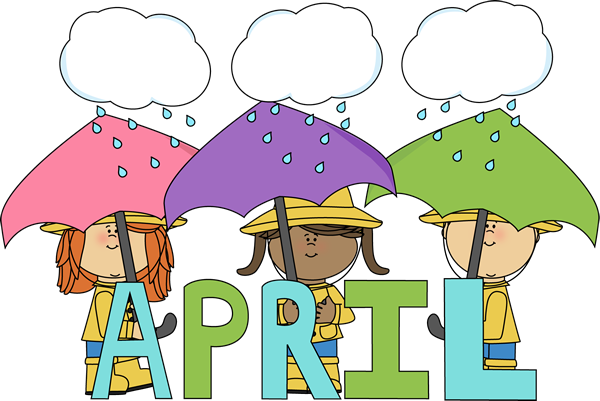 April Calendar Clip Art : Month of april showers clip art image