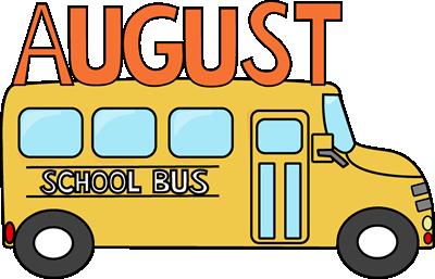 august school bus clip art august school bus image rh mycutegraphics com Cartoon School Bus Clip Art School Bus Stop Clip Art
