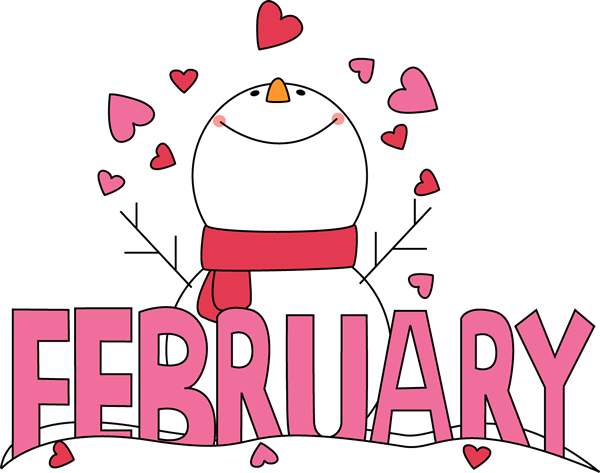 Month of February Snowman Love