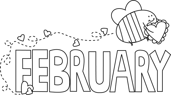 Black and White February Valentine Love Bee