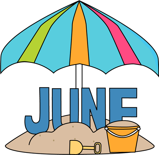June Calendar Heading Clipart : June clip art images month of