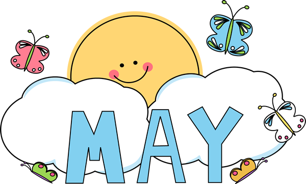 May Calendar Heading : Month of may butterflies clip art
