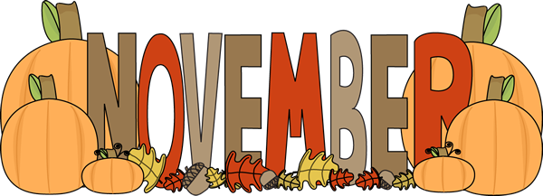 Month of November Autumn Clip Art - Month of November ...